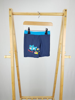 George blue swimming trunks 3-4 years