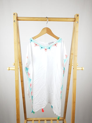 Matalan embroidered top/cover up with tassels 7 years