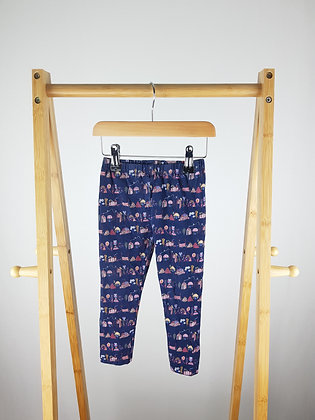 Nutmeg owl town print leggings  3-4 years
