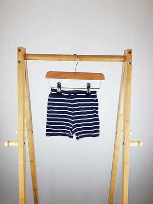 George striped shorts 3-6 months