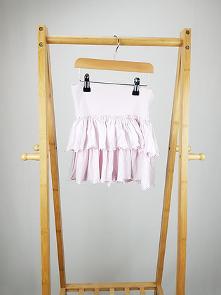 H&M light pink tiered skirt  7-8 years