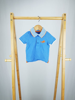 Mothercare blue polo shirt 3-6 months