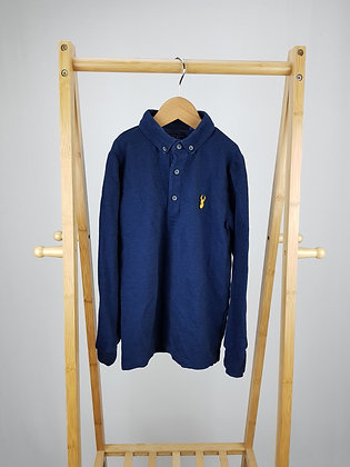 Next navy long sleeve polo shirt 9 years