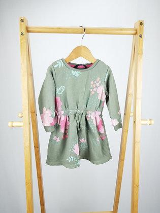 George long sleeve floral dress 12-18 months
