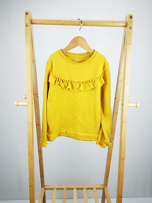 F&F mustard ruffle sweater 6-7 years