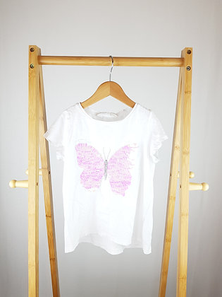 H&M flippy sequin butterfly t-shirt 8-10 years