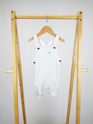 F&F grey short dungarees 9-12 months