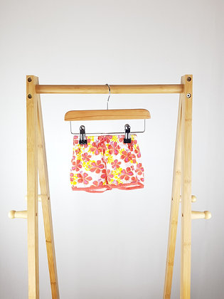 Early days floral shorts 9-12 months