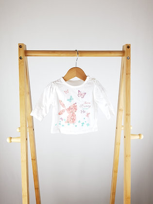 F&F bunny long sleeve top up to 1 month