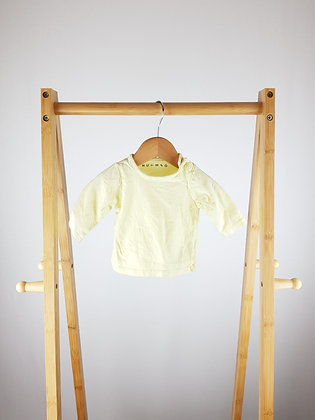 Nutmeg yellow long sleeve top up to 1 month