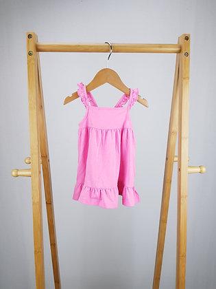 F&F pink dress 0-3 months