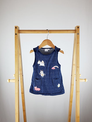 Bluezoo embroidered pinafore dress 3-6 months