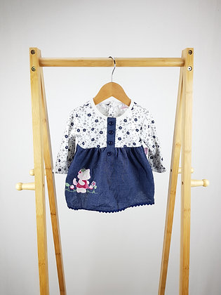 Mini chic flower long sleeve top 0-3 months