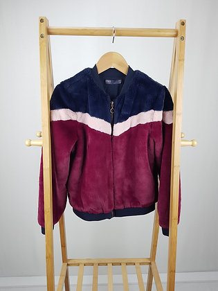 M&S faux fur zipped jacket 10-11 years