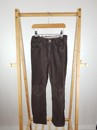 H&M brown corduroy trousers 7-8 years