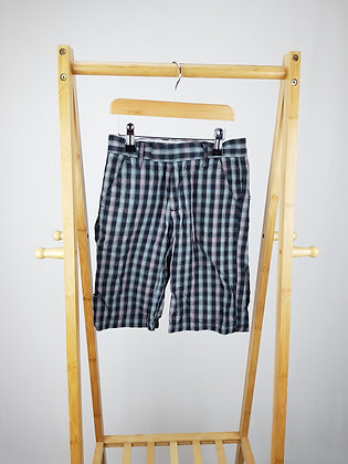 Rebel checked shorts 7-8 years