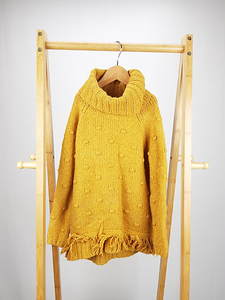 Matalan mustard sparkly knitted jumper 8 years
