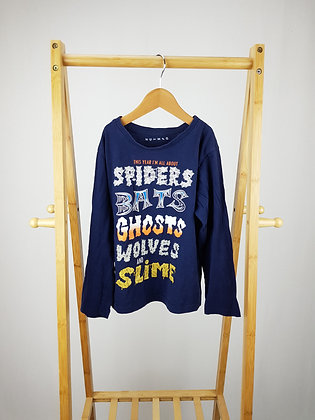 Nutmeg Halloween long sleeve top 7-8 years