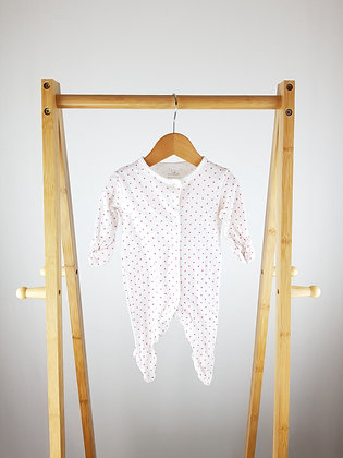 Early days heart print sleepsuit up to 1 month