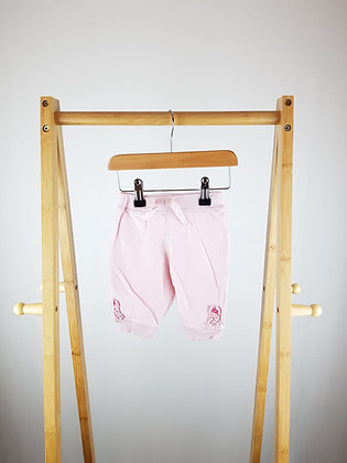 Bluezoo pink joggers 3-6 months
