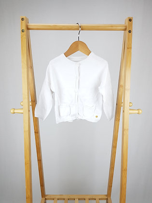 M&s white knitted cardigan 12-18 months