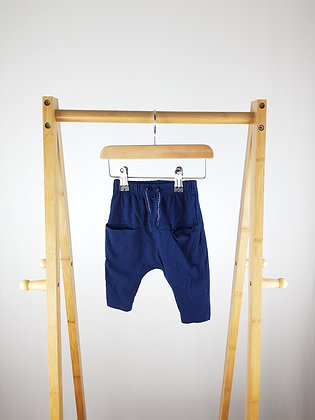 V by Very navy bottoms 3-6 months