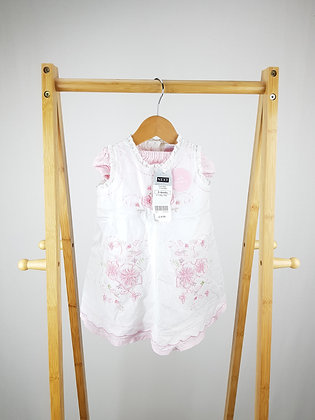 Next embroidered dress & knickers 3-6 months