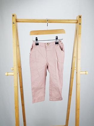 John Lewis dusky pink trousers 12-18 months