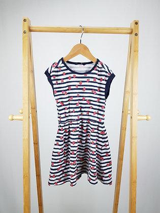 George striped strawberry dress 4-5 years
