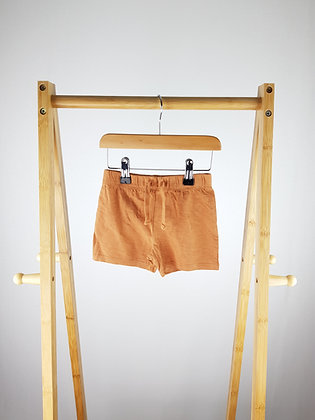 F&F brown shorts 9-12 months
