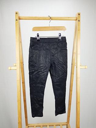 Matalan black coated trousers 6 years
