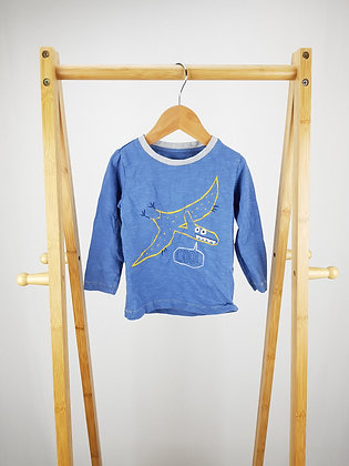 M&S pterodactyl long sleeve top 9-12 months