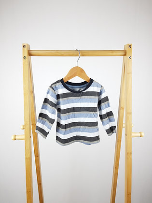 Primark striped long sleeve top 9-12 months