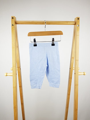 Blues baby knitted joggers 3-6 months
