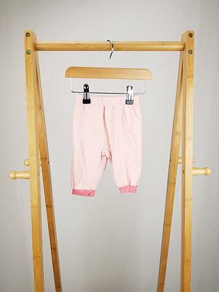 George pink pyjama bottoms 3-6 months