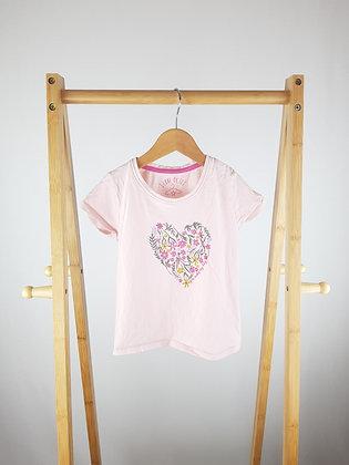 Matalan flower heart t-shirt 4-5 years