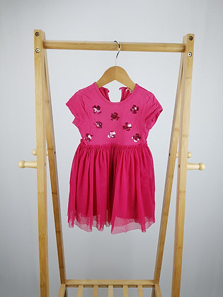 Bluezoo pink occasion dress 12-18 months
