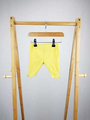Mothercare yellow shorts 6-9 months