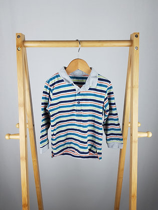 Matalan striped long sleeve polo 18-23 months