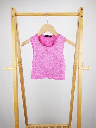 George pink active wear crop top 8-9 years