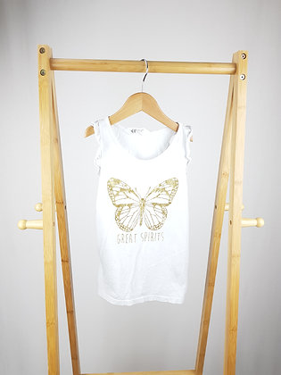 H&M butterfly vest top 6-8 years