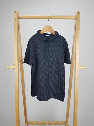 F&F black polo shirt 8-9 years
