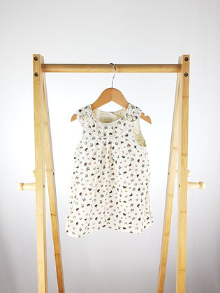 H&M patterned cord dress 9-12 months