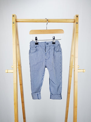 Mini club checked trousers 9-12 months