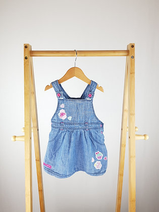 George denim pinafore dress 9-12 months