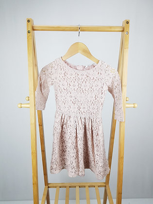 H&M pale pink lace dress 8-9 years