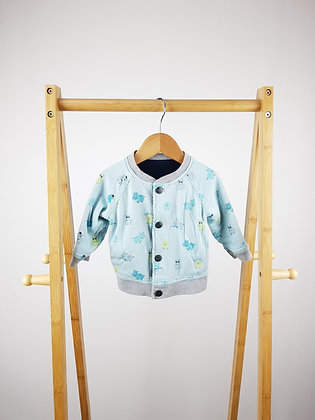 Ted Baker reversible hippo print jacket 6-9 months