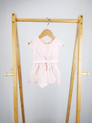 Matalan embroidered pink playsuit 0-3 months