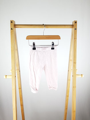 George pink striped joggers 6-9 months