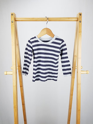 George striped long sleeve top 9-12 months